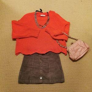 Bright Orange Sweater